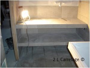 Réalisation d un plan de travail de salle de bain pour plan vasque entièrement réalisé
