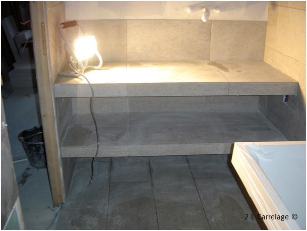Pose carrelage galerie photos carrelage var 83 for Plan de travail pour salle de bain